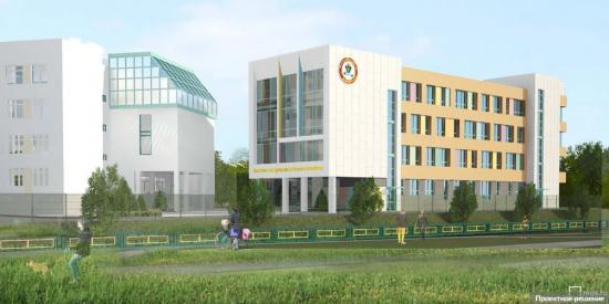 Собянин осмотрел строительство учебного корпуса школы в Южном Бутове