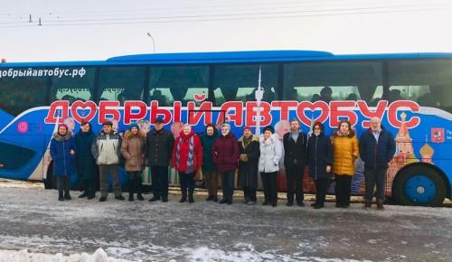 Участники проекта «Московское долголетие» посетили Башню Федерации на Добром автобусе