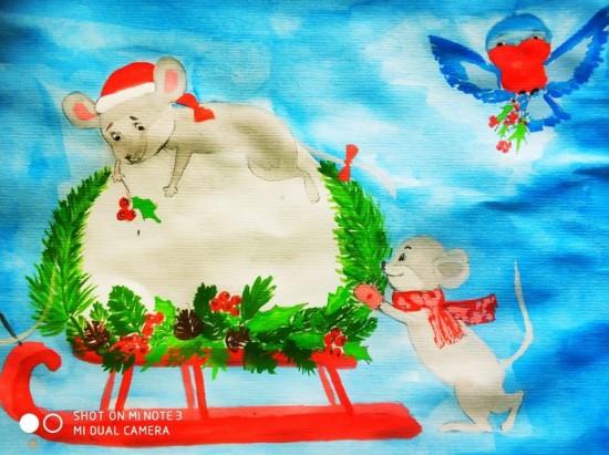Зимние фантазии глазами детей можно увидеть на выставке рисунков в центре «Орион»