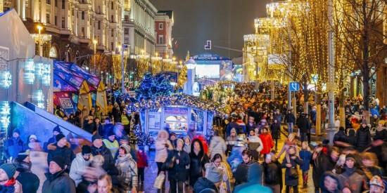 2,7 млн. москвичей и гостей столицы приняли участие в новогодних гуляньях