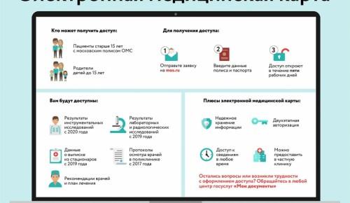 Более 260 тыс. москвичей оформили электронную медицинскую карту