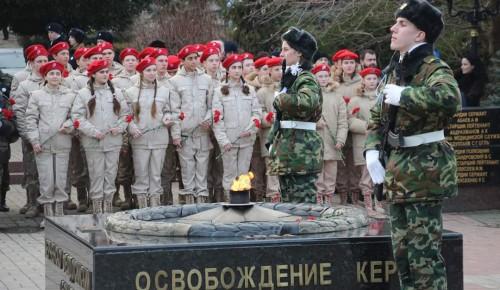 Юнармейцы «Юго-Запада» посетили Керчь в рамках патриотической акции «Маршрут памяти»