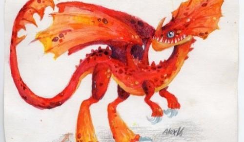 Работы воспитанников изостудии Дарвиновского музея вышли в полуфинал конкурса «Мой личный дракон»