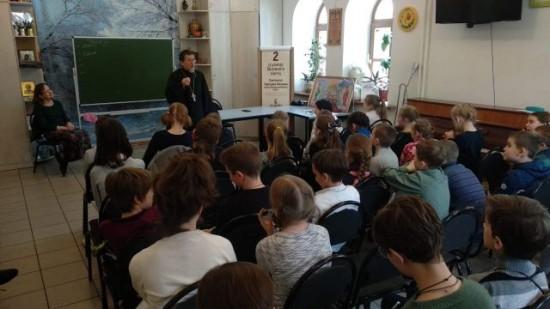 В Воскресной школе храма Живоначальной Троицы состоялась беседа о Великом посте