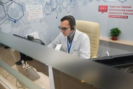 Более 100 тыс онлайн-консультаций провели врачи в Москве для пациентов с COVID-19