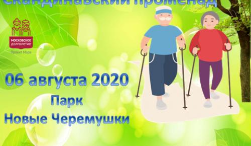 Участников «Московского долголетия» Академического района приглашают на «Скандинавский променад»