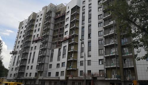 После завершения строительства дома на улице Шверника, территория вокруг него будет благоустроена