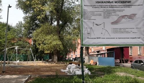 В Академическом районе реализуются работы по благоустройству дворов