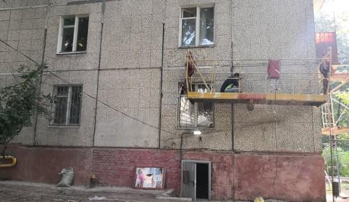Ремонт фасада в доме на Большой Черемушкинской близится к завершению