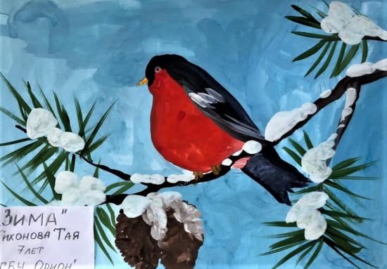 Выставка детских рисунков «Волшебная зимушка» проходит в центре «Орион»