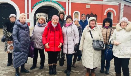 Участники проекта «Московское долголетие» посетили женский монастырь