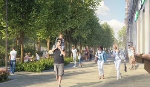 Жители ЮЗАО проголосовали за благоустройство Профсоюзной улицы
