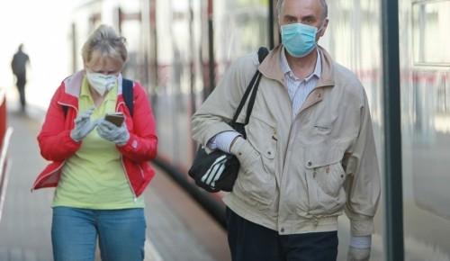 Дептранс: Утром 15 мая 99% пассажиров метро надели маски