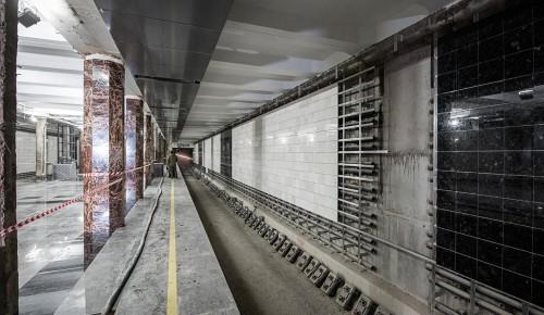 Собянин осмотрел ход строительства станции метро «Воронцовская» в ЮЗАО