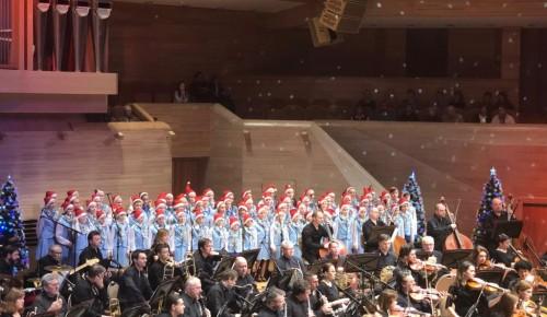 Хор «Юность» имени В.С. Локтева принял участие в новогоднем концерте в Московском международном Доме музыки