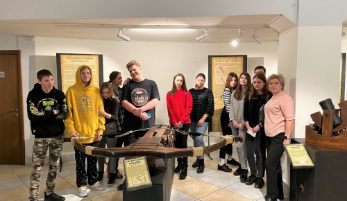 Ученики школы №17 познакомились с изобретениями Леонардо да Винчи