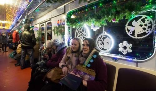 В канун Рождества поездки на метро и МЦК совершили 313 тысяч пассажиров