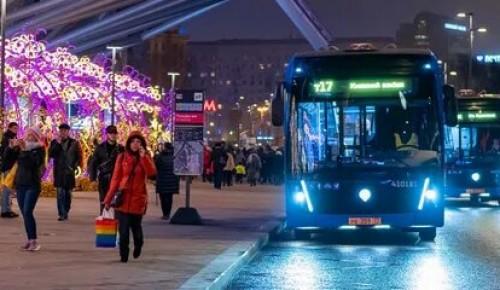 В Рождественскую ночь будет изменен режим работы общественного транспорта