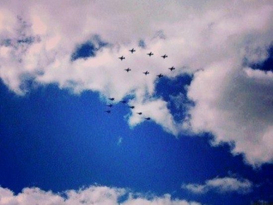 В столице прошла первая репетиция воздушной части военного парада