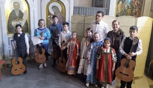 Воспитанники детской музыкальной школы выступили перед пациентами больницы им Н.И. Пирогова