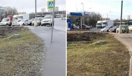Территорию возле остановки на ул Генерала Тюленева привели в порядок