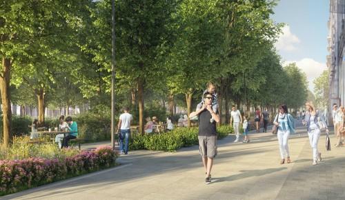 На Профсоюзной улице установят новые фонари, высадят деревья и кустарники