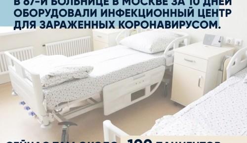 В ГКБ № 67 открыли отделение для пациентов с коронавирусной инфекцией