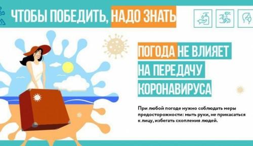 Погода не повлияет на передачу коронавируса