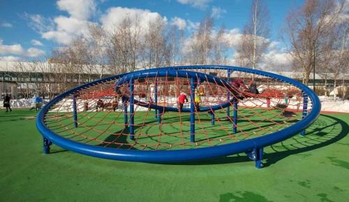 Сломанный МАФ на детской площадке в Северном Бутове починили