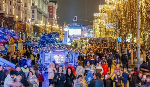 Около 1,1 миллиона человек отметили Новый год в центре города
