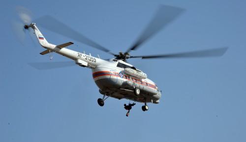 Пострадавшего в аварии в районе Ясенево доставили в СКЛИФ на вертолете