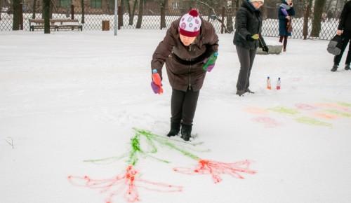 В «Усадьбе «Воронцово» прошел мастер-класс по рисованию на снегу