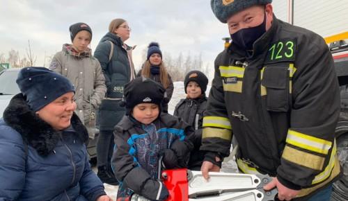 Детям - о  безопасности. Пожарные посетили воскресную школу