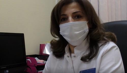 Старшая медсестра поликлиники №22 Арега Андреасян рассказала о своей работе в пандемию