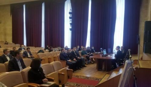 11 февраля 2021 Заседание комиссии по предупреждению и ликвидации чрезвычайных ситуаций состоялось в ЮЗАО