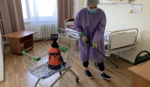 В больнице на Литовском бульваре плановая дезинфекция проходит три раза в день