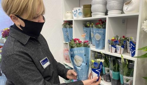 В Черемушках выбирают цветы в горшках в качестве подарка на 8 Марта