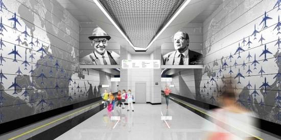 Собянин осмотрел ход строительства станции метро «Пыхтино»