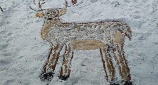 В фестивале-конкурсе «Снежный холст» первое место заняла работа, выполненная в Битцевском лесу