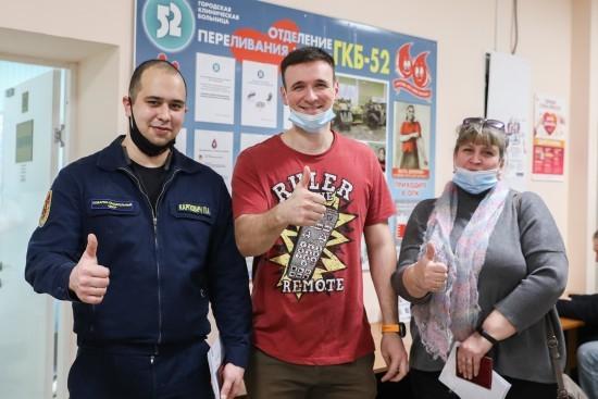 Пожарные и спасатели столицы стали участниками донорской акции