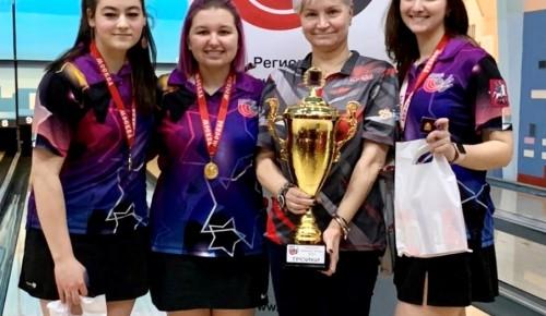 На городском чемпионате по боулингу спортсмены «Самбо-70» взяли 2 «золота»