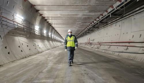 Бочкарев: На станции БКЛ «Терехово» завершаются монолитные работы