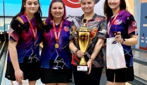 На чемпионате Москвы по боулингу спортсмены «Самбо-70» взяли 2 «золота»