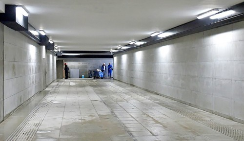 Подземный пешеходный переход построили в Обручевском районе