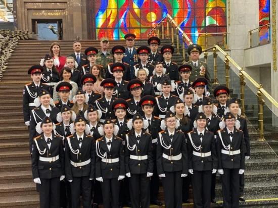 Кадеты школы № 1507 приняли торжественную клятву на Поклонной Горе