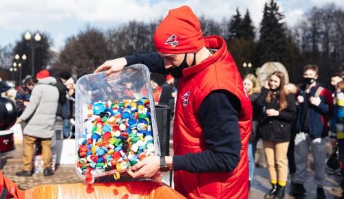 Активисты Котловки собрали более пяти килограмм пластиковых крышек для переработки