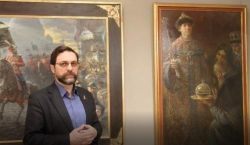 Заслуженный художник России Игорь Машков рассказал  о  своих работах на выставке «Вера. Отечество. Честь»
