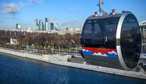 Московская канатная дорога начнет работать по летнему графику