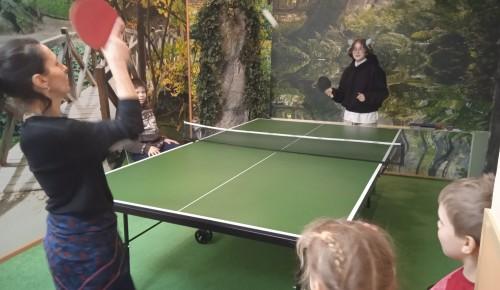 Жители Обручевского района смогут заниматься в клубе по настольному теннису «Чемпион»