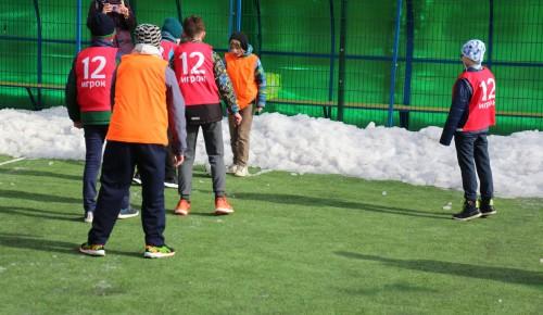 В Черемушках прошли районные соревнования по футболу на снегу